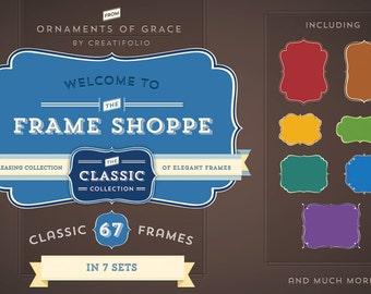 67 Classic Vector Frames + Adobe Illustrator Symbols