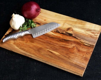 Maple Wood Cutting Board Cheese Board Bread Board Serving Tray Ecofriendly Wedding Gift Anniversary Rustic Chef Natural
