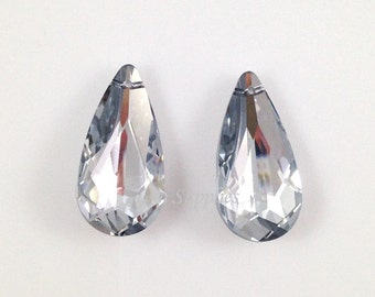6100 COMET ARGENT LIGHT Swarovski Crystal Teardrop Pendant 24x12mm 2pcs