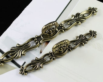 "9 2/5""Large Dresser Pulls Drawer Pulls Handles Antique Bronze Sunflower / Rustic Kitchen Cabinet Hardware Handle Pull Knobs Back Plat"