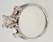 14k White Gold & Diamond Engagement Ring 1.36 Carats with free shipping.       m106925.
