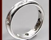 Vintage Tiffany and Company Designer Platinum Diamond  Band