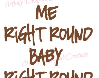 Spin Me Right Round Mixer Decal