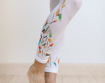 Leggings with hand painted motives