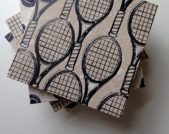 Tennis Coasters, Tennis Gift Idea, Tennis Coach Gift, Tennis Captain Gift, Tennis Racket and Balls, Tennis Team Gift
