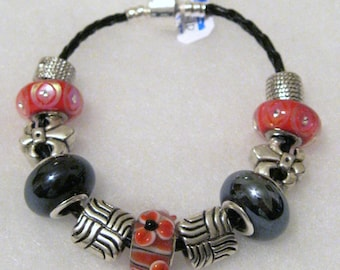 210 - CLEARANCE - Black and Red Bracelet