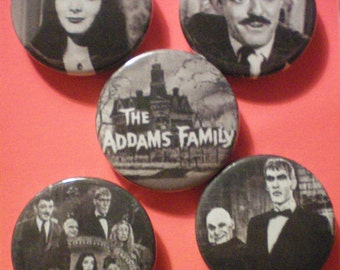 Addams Family Badges