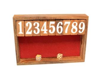Shut the Box, Wooden Game, Woodworking, 100% Handmade