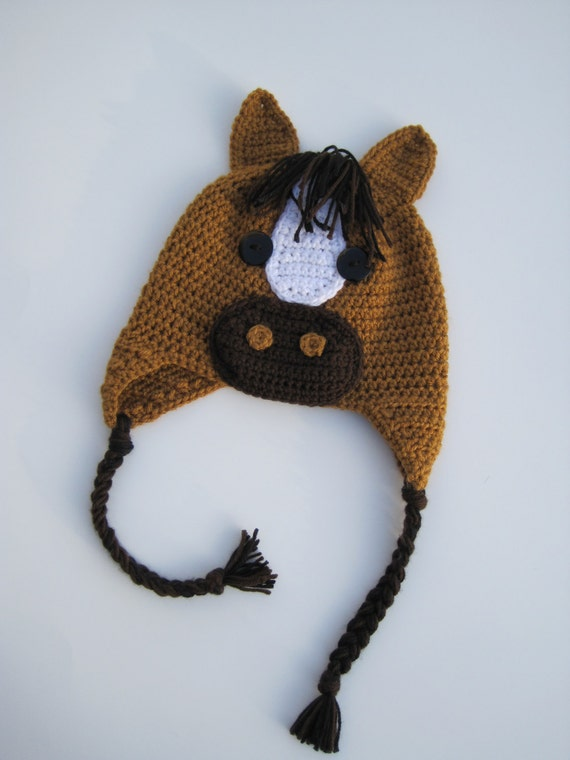 Horsey baby gifts hand gallop crocheted horse baby hat cute overload negle Gallery