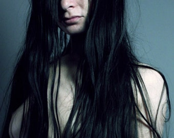 Tangled Honesty // Long Hair // 8x10 signed print // Self Portrait Photography