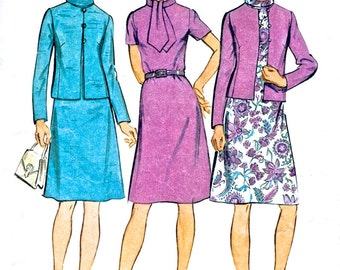 """Misses' and Women's Dress and Jacket - Simplicity 5394 Dress Pattern - Vintage Sewing Pattern - Bust 34"""""""