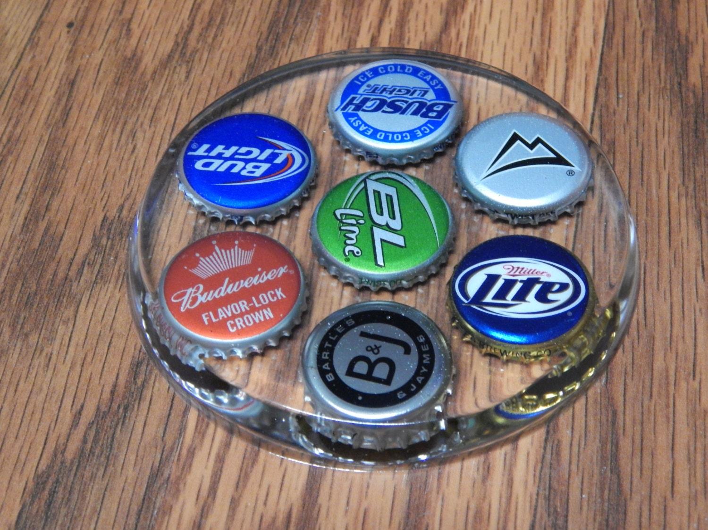 Handmade Epoxy Resin Bottle Cap Coaster