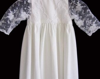 Baptism dress lace 6 months