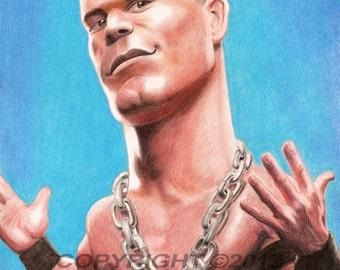 John Cena Caricature Poster Limited Edition Art Print