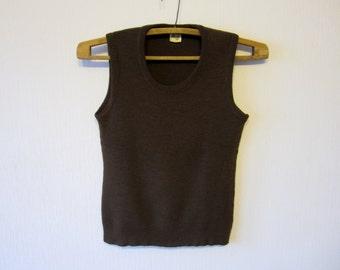 Brown Sweater Vest Childrens Sleeveless Waistcoat