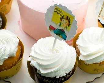 Little Golden Book Cupcake Toppers - 24 ct
