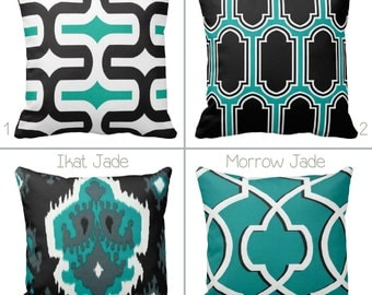 unique teal bed pillow related items etsy