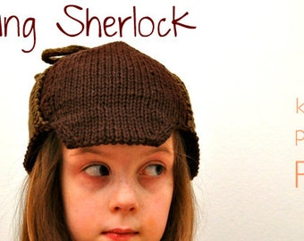 KNITTING PATTERN - Young Sherlock Knit Cap (PDF Download)