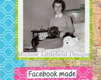 Facebook Made Me Like People Again Funny Friendship Greeting Card
