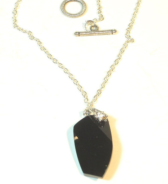 Black Swarovski Crystal Necklace