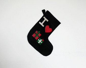 Christmas Stocking, I Love Presents Felt Stocking