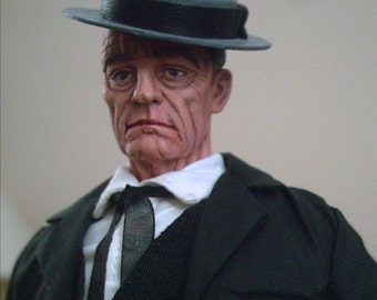 "Buster Keaton OOAK doll ""The Great Stone Face"""