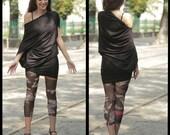 Off-Shoulder Top, Sexy Black Dress, Boho Tunic Dress, Short Black Dress, Loose Tunic, Asymmetrical Dress, Loose Top, Maxi Top