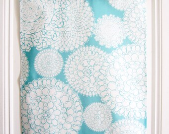 Tea Towel // Dish Towel // Original Delightful Doilies Designs // Aqua // Housewares // Boho Style // Linen Cotton Towel // Feminine // Gift