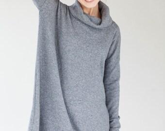 Oversized dress | Grey dress | Woolen dress | LeMuse oversized dress