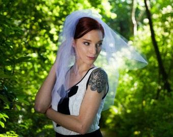 Wedding Veil, Short Veil, Veil with Blusher