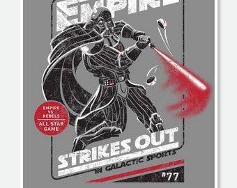 The Empire Strikes Out - Darth Vader / Baseball 8x10 Print