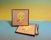 Little Yellow Birdie Bird- Mini Cards Thank You Cards  ( Set of 4)