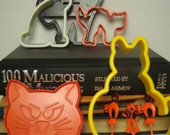 Halloween 5 Cat Cookie Cutters Make Spooky Kitty Treats