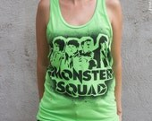 The Monster Squad 80s movie unisex tank top stencil and spray paint art by Rainbow Alternative on Etsy