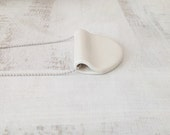 Minimalist White Porcelain Jewelry