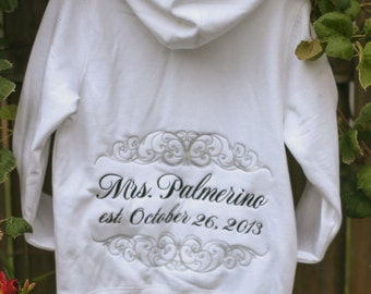 LADIES fit Personalized Wedding Sweatshirt - Mrs, Soon to Be, Future Mrs, Bride - Personalized just for you - GREAT GIFT