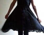 Black Cotton Dress, Little Black Dress by NervousWardrobe on Etsy