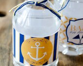 Nautical Baby Shower PRINTABLE Drink Labels (INSTANT DOWNLOAD) by Love The Day