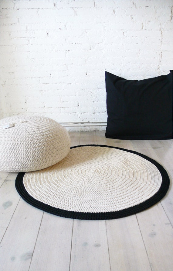 Crocheting Round Rugs : Bathroom Bedding Floor & Rugs Food & Drink Furniture Home DEcor
