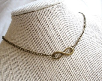 Infinity Necklace, Symbol for Never Ending Love, Choose Your Length