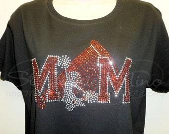 Cheer Mom Rhinestone T-shirt  (3 styles to choose from)