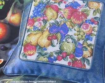 Cross Stitch Pattern | TAPESTRY Of Fruit | Donna Vermillion Giampa | Pillow | Counted Cross Stitch Chart | fam