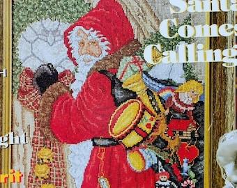 Michele Johnson KNOCK Knock Santa Claus Artwork By Pipka - Counted Cross Stitch Pattern Chart - fam
