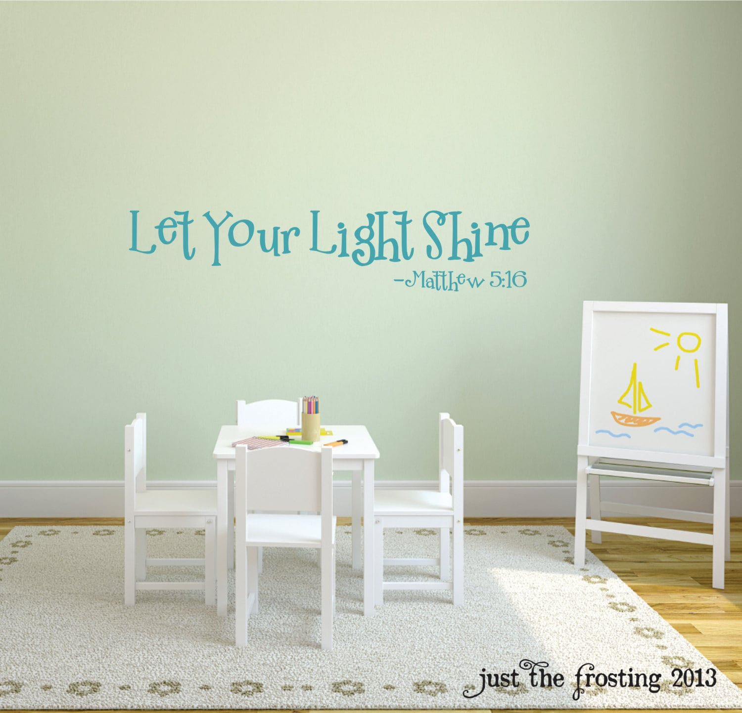 Let your light shine wall decal childrens or playroom decor zoom amipublicfo Image collections