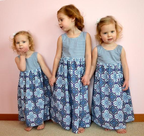 Maxi Dress for Girls sewing pattern dress sewing pattern