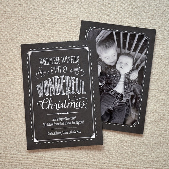 Items Similar To DIY Photo Holder Christmas Card