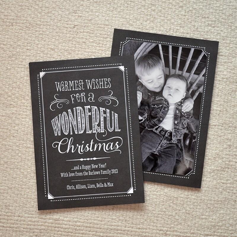 DIY Photo Holder Christmas Card Chalkboard By