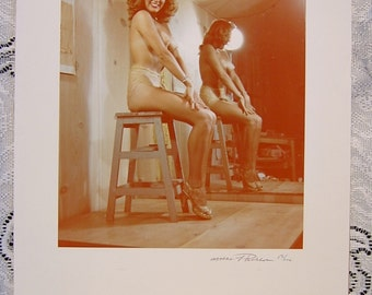Photo Nude Pin Up Photographer Mac Pherson copy of 50's Photograph Signed 13/100