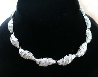 Designer Necklace Silver Coro 1950s Retro Vintage