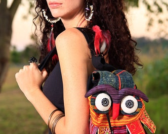 Hmong Owl Bag /Tribal/Ethnic/Embroidered/Whole Sale